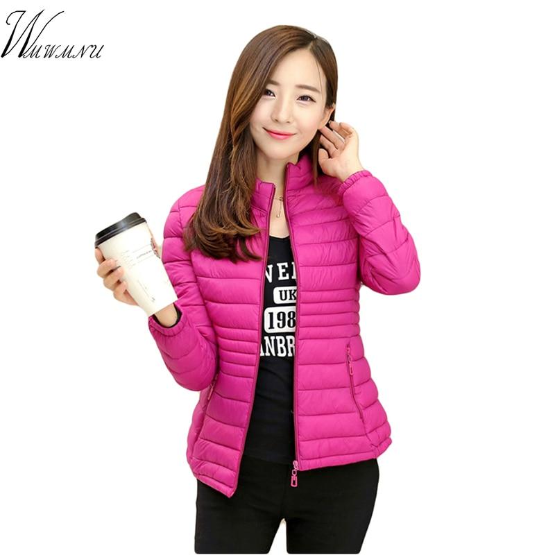 Mom's Casual Big Size L-5xl ultra light Cotton down short jacket women 2018 Hot selling ladies bomber jackets slim waist outwear