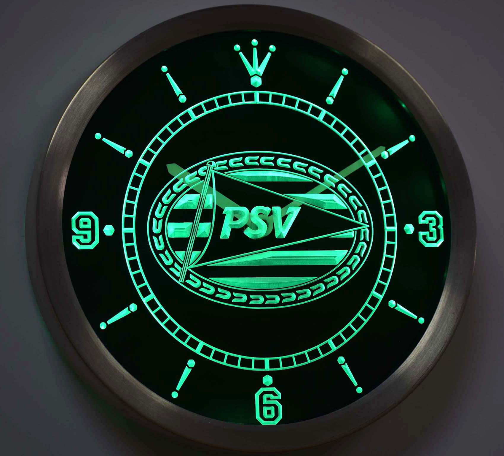 Nc1010 PSV Eindhoven Sport Vereniging Eredivisie Neon Sign LED Wall Clock