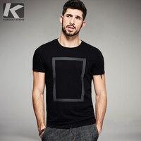 KUEGOU 2016 Summer Mens Fashion T Shirts Black White Print Famous Brand Clothing Short Sleeve Man