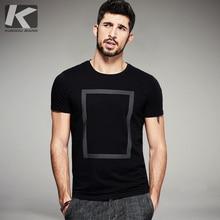 ФОТО KUEGOU  Summer Mens  T Shirts Black White Print Famous  Clothing Short Sleeve Mans T-Shirts Tops Tees  1613