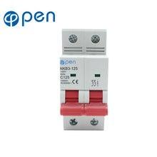 Автоматический выключатель mcb с мощностью на разрыв 2p 125a