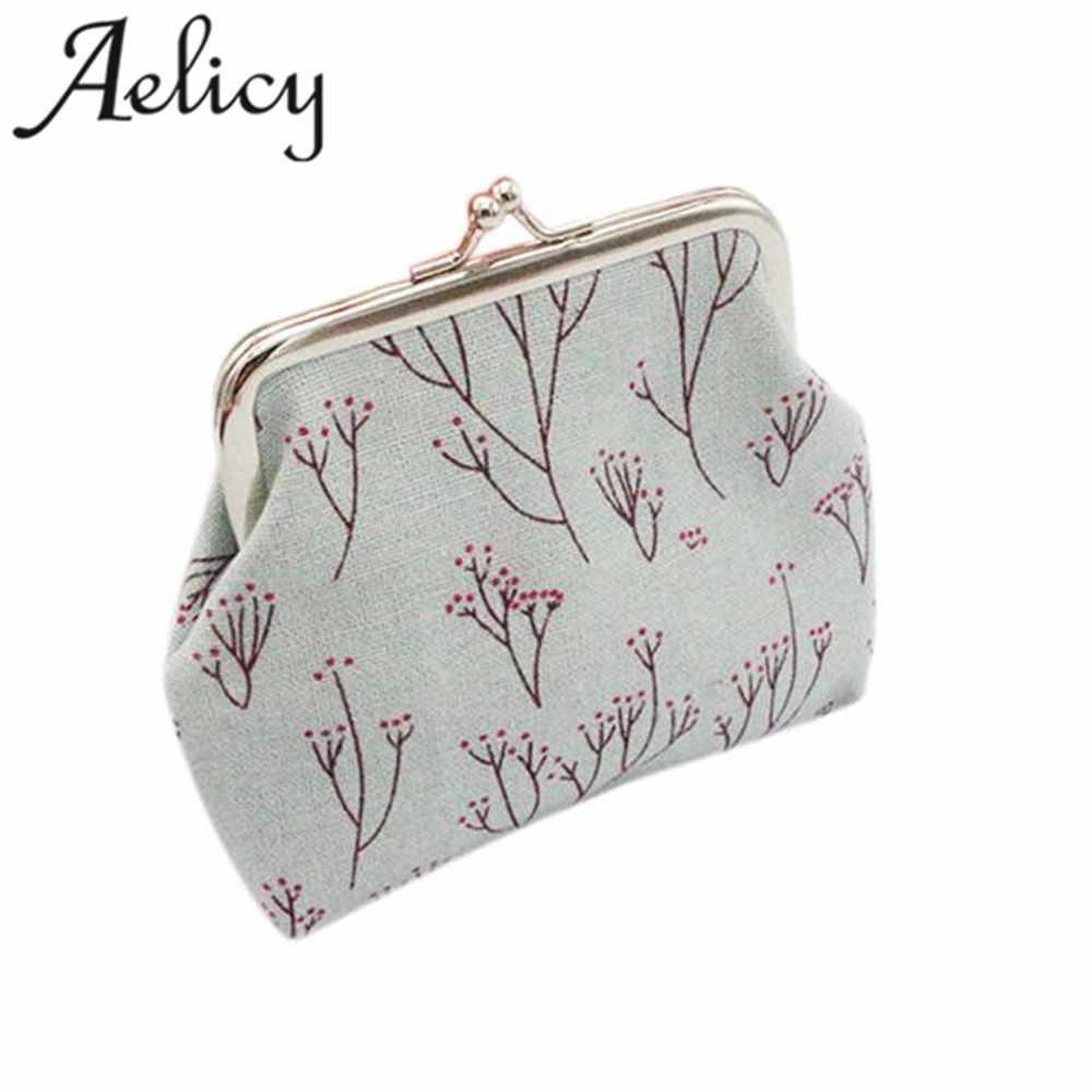 Aelicy 2018 quente nova moda luz de alta qualidade mulheres meninas impressão carteira titular do cartão moeda bolsa embreagem