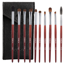 RANCAI Makeup Brushes Set 10 pcs/lot Eye Shadow Blending Eyeliner Eyelash Eyebrow For Make up Portable Brush