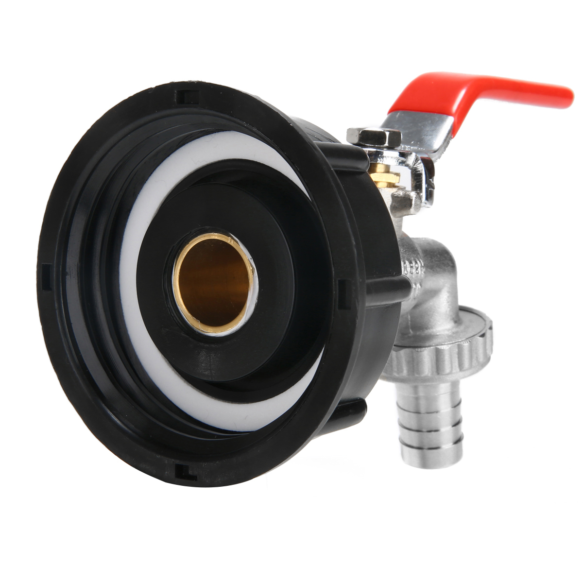 """S60x6 Thread IBC Tank Tap Adapter Connector To Brass Garden Tap 1/2"""" Hose Fitting Oil Fuel Water Replacement Valve Fitting Parts"""