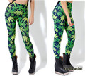 Women Tight Elastic Pants 3D Printed Leaves Fashion Fitness Pants Europe Style Women Pants