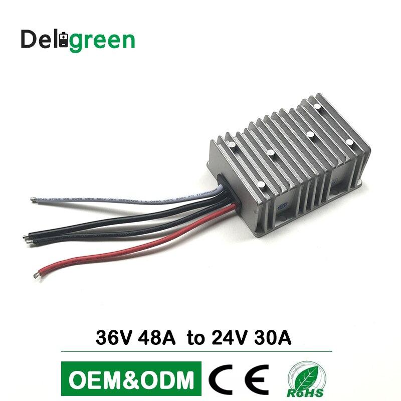 36V 48V to 24V 30A DC DC Converter Regulator Car Step Down Reducer Buck converter power supply