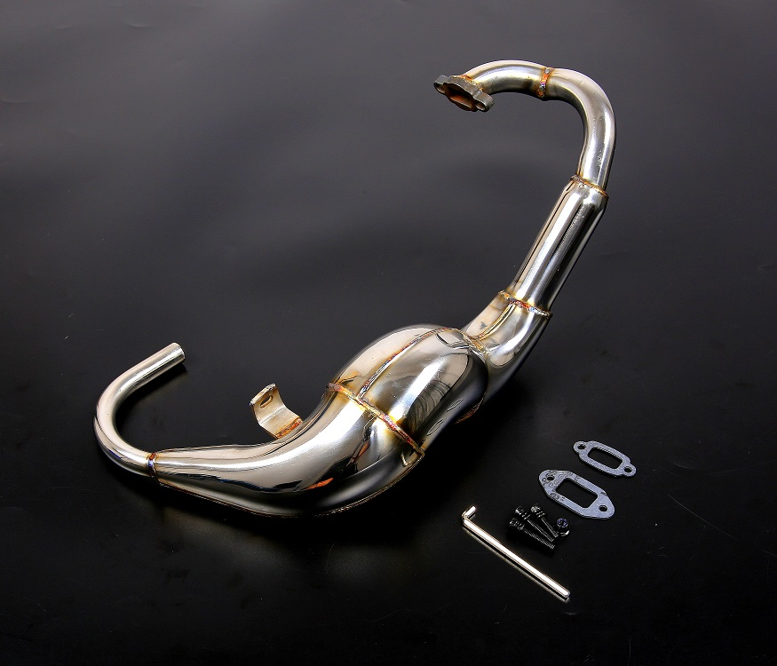 Metal Modified exhaust torque tube Torque type exhaust pipe Blasting sound for 1/5 hpi rovan km baja 5b ss rc car parts