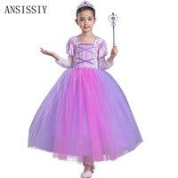 Summer Children Fancy Sofia Rapunzel Dress For Girls Birthday Party Halloween Christmas Kids Princess Costume Vestido Clothing