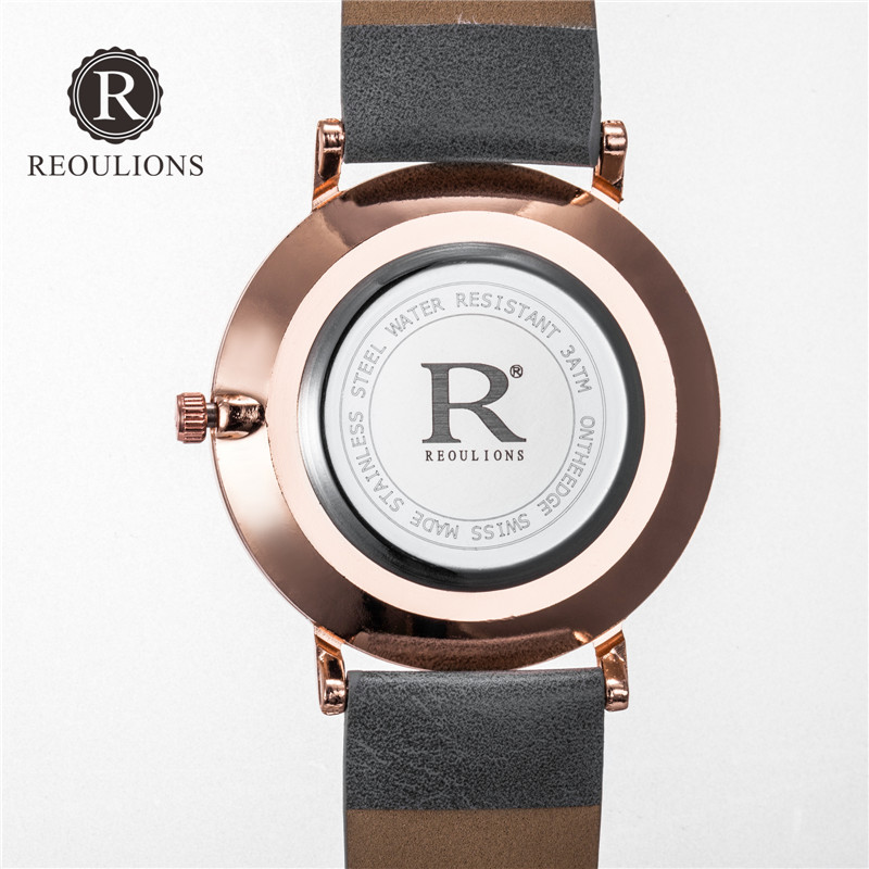 REOULIONS Mode Arabiska Numbers Kvinnor Watch Ladies Quartz Watch Lyx - Damklockor - Foto 5