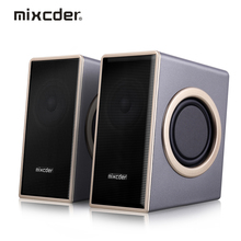 Hot Sale Mixcder Speaker Subwoofer USB 3.5mm Heavy Bass Multimedia Speaker with Enhanced Sound for Laptop / PC / Computer