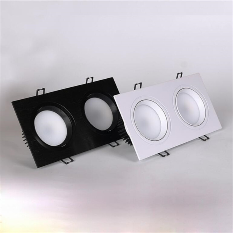 Square double led dimmable 20w Led fog Downlight Recessed Led Ceiling Down Light Lamp Indoor with