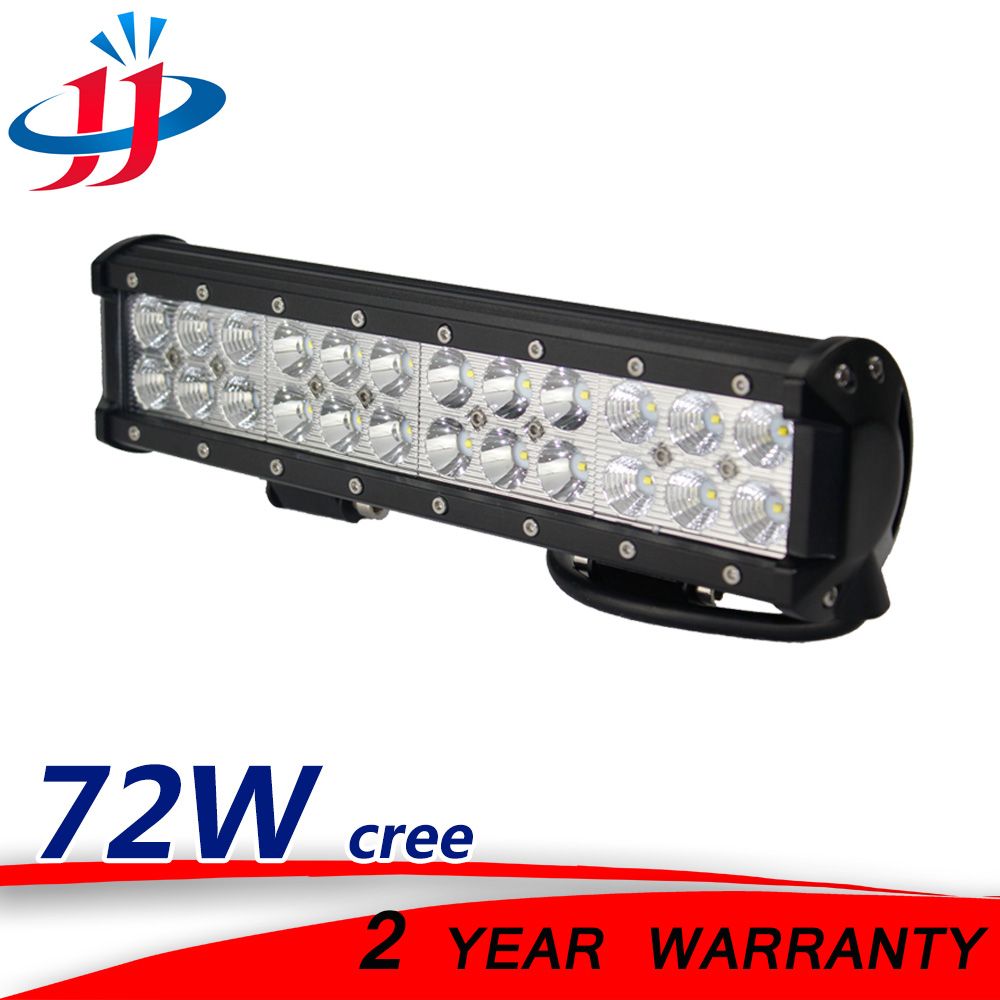 12 72watt led rampe work light bar 12v 24v spot flood headlight off road auto trailer truck. Black Bedroom Furniture Sets. Home Design Ideas