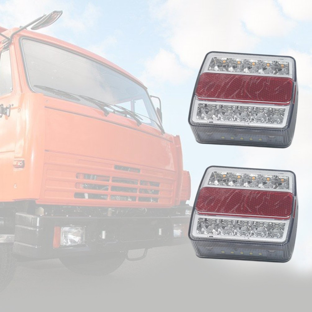 12V Waterproof & Submersible Left & Right LED Trailer Lights One Pair of Energy Efficient Amber & Red LED Lights bright energy efficient architecture