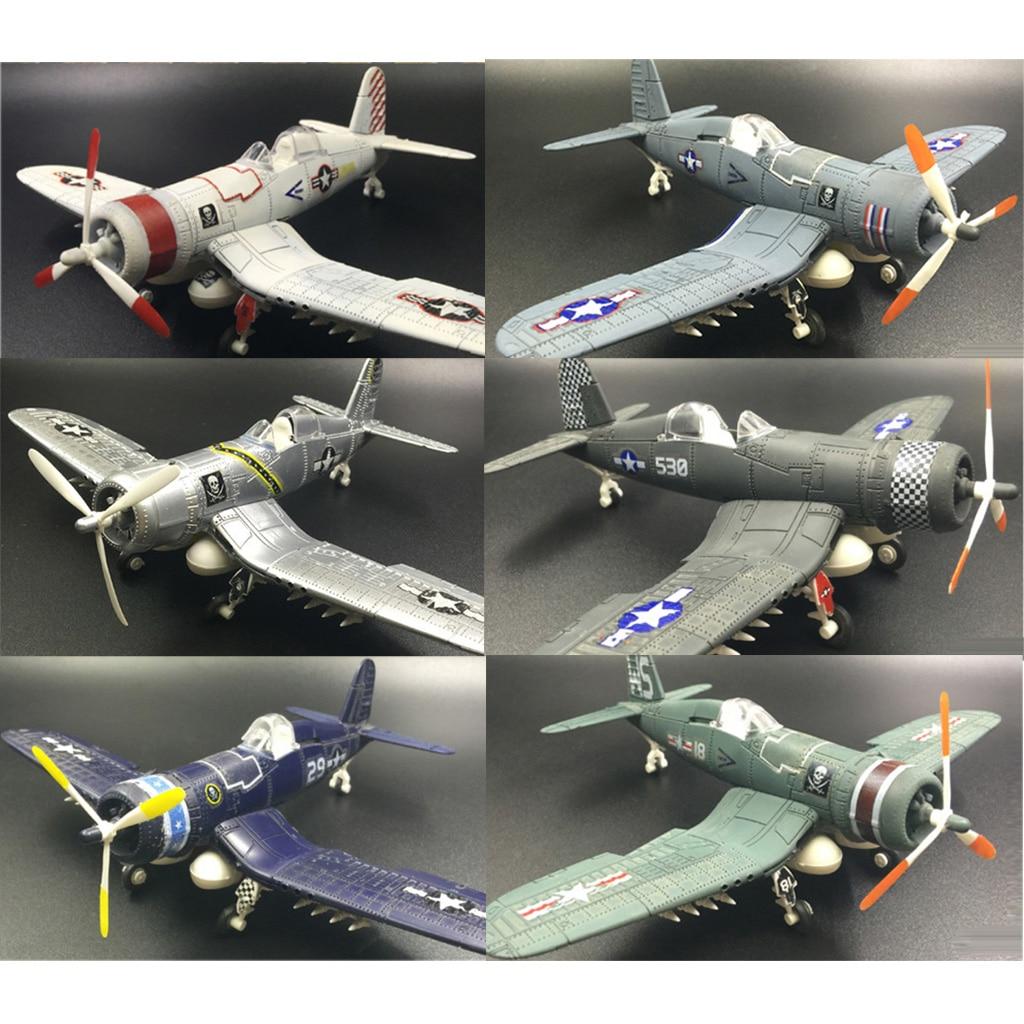 DIY Accessory 1/48 Plastic American Vought F4U Model Warcraft Toy Plane Art Craft 6x