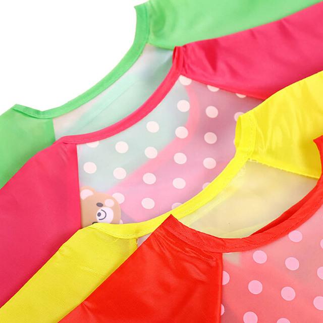 Colorful Waterproof Long Sleeve Baby Apron