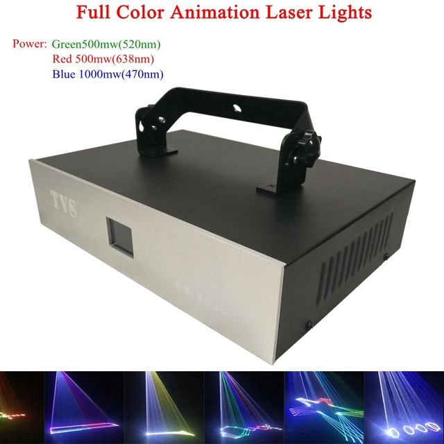 Disco Stage Light Sound DMX 2W LED DJ Light Auto-run Active Laser Projector with Controller For family party Bar night light