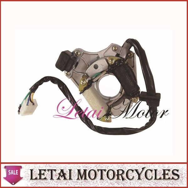 US $5 0 |110cc 125cc dirt bike quad atv engine parts magneto coil stator  for horizontal engine type chinese dirtbike, ATV, quads-in Kickstarters &