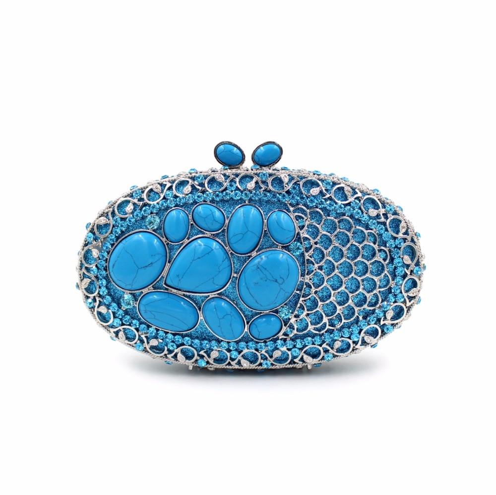 BL036 diamante bolsos de tarde de Lujo coloridas bolsas de embrague monedero muj