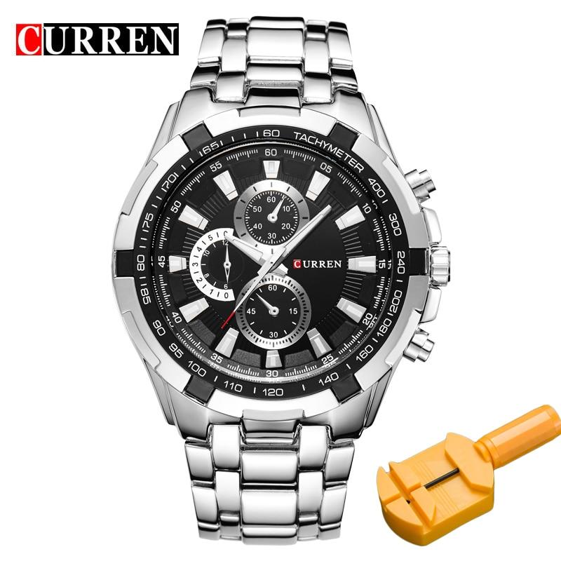 78367537d18e Hombres CURREN relojes de cuarzo Top marca Analog Mens militar deportes  reloj hombre reloj ejército reloj