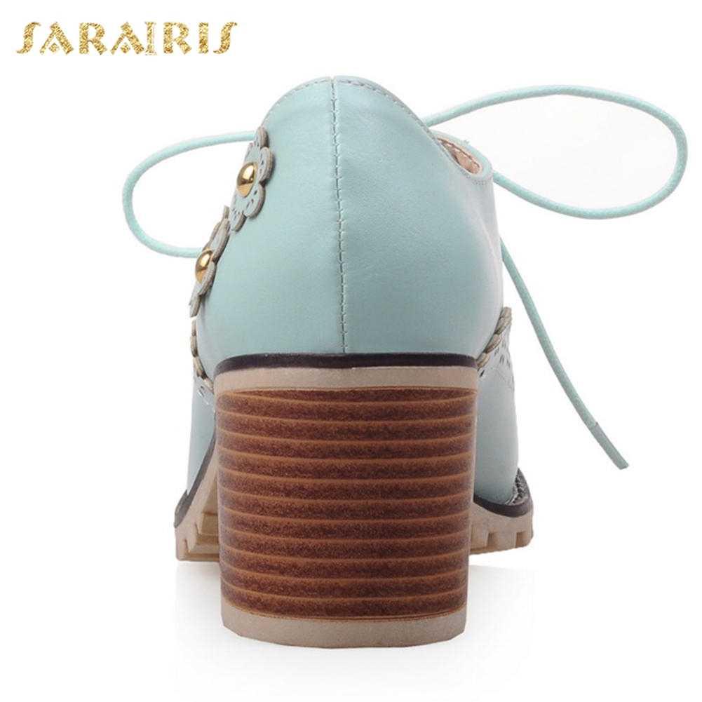 SARAIRIS 2018 קטן בתוספת גודל 32-43 מתוק פרחים מבטא אופנה נעלי משאבות אישה פנאי בסגנון בריטי נעלי נשים אישה