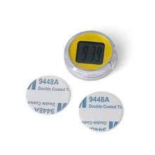 Mini Motorcycle Clocks Watch Waterproof Stick-On Motorbike Mount Watch Digital Clock Car Styling