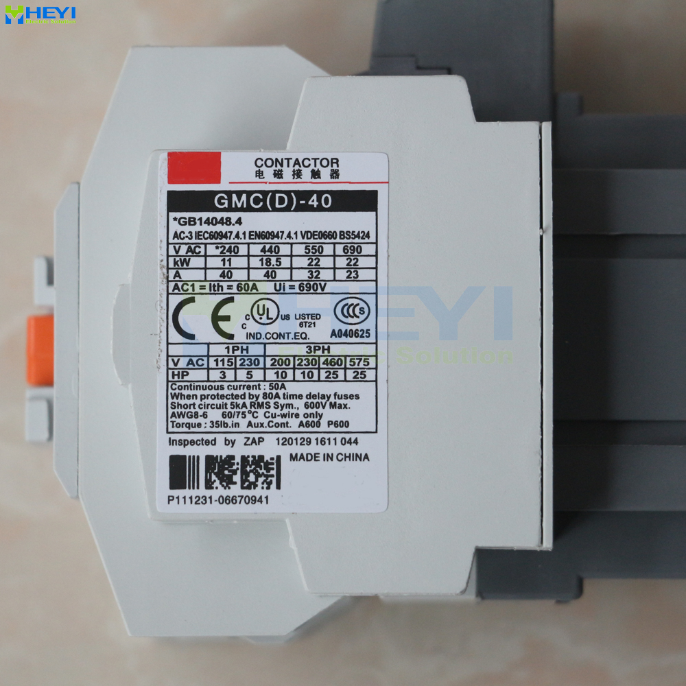 Gmc 40 Types Of Contactor Protect Power Circuit Three Pole 220v 40a 120 Volt Wiring 50hz For Ac Motor 690v Insulate Class In Contactors From Home Improvement On