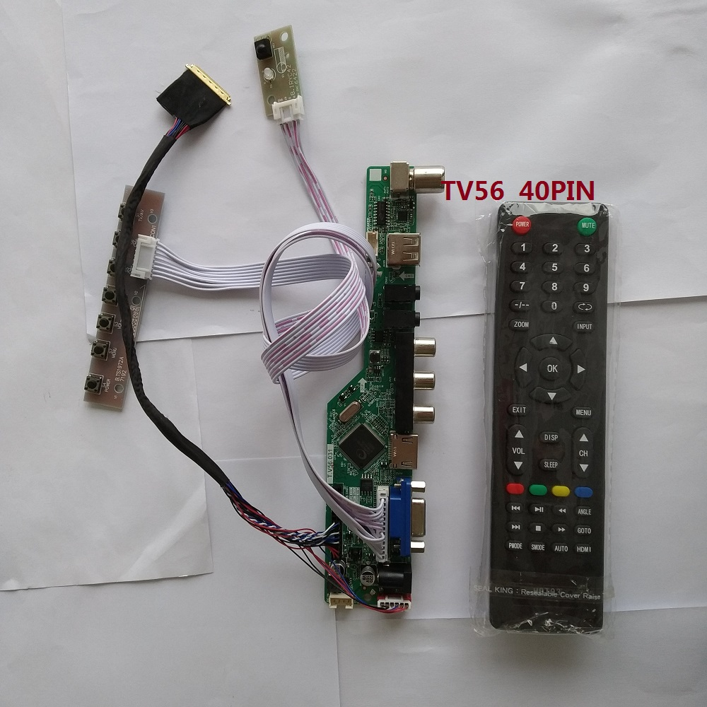 "kit for LP154WP3-TLA2 Controller board driver 15.4"" LCD LED remote VGA TV AV 40pin LVDS HDMI USB 1440X900 Screen panel"