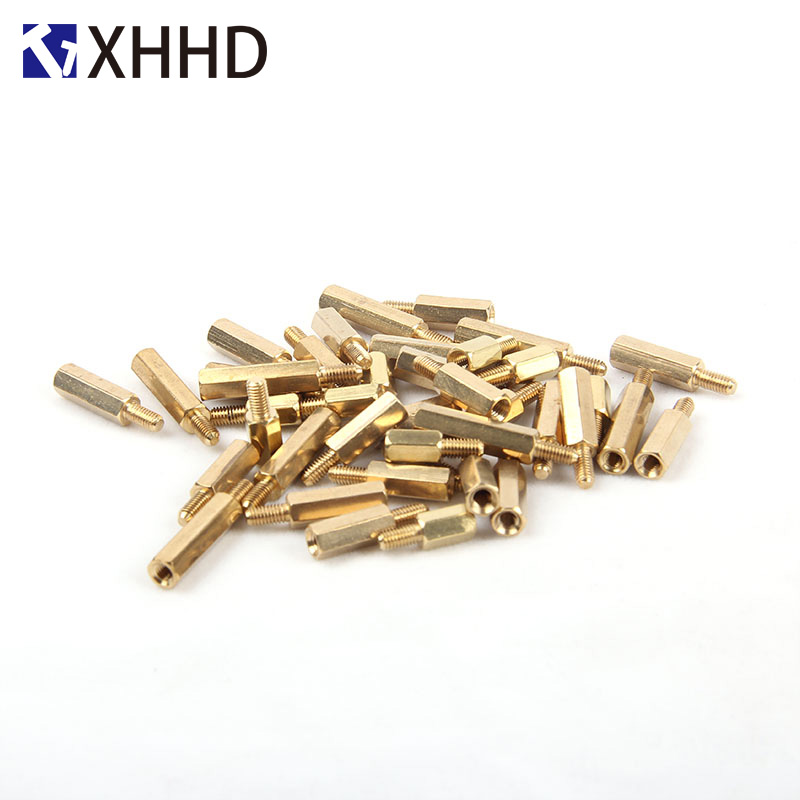 M3xL+3/4/5/6mm Single Head Hex <font><b>Brass</b></font> Standoff Threaded Pillar PCB Computer PC Motherboard Stand Off Spacer image