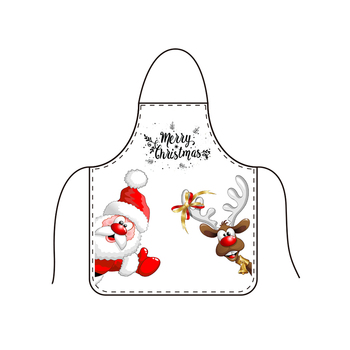 Free Shipping KEFEI 2018 New Wholesale Merry Christmas Apron Gift Accept Custom Logo Fullover Printing Kids Apron