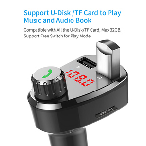 Image 5 - G13 Wireless Car Kit Bluetooth MP3 Music Player Hands free Calling Car Kit with Dual USB Intelligent Fast Charging Car Charger