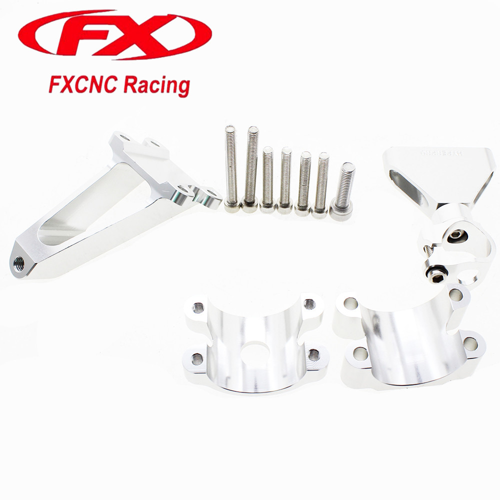 CNC Motorcycle Damper Steering Stabilize Damper Bracket Mounting Holder Kit For HONDA CBR600 F4i CBR 600 F 4i 1999 - 2004 99 00 free shipping for honda cb400 vtec 1999 2010 motorcycle aluminium steering stabilizer damper mounting bracket kit