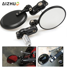 7/8 22MM Motorcycle Handle Grips Bar End Mirrors for suzuki DRZ 400 BANDIT GS500 M109R V-strom650 V-strom 1000 gn125