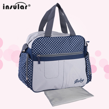Insular 600D Nylon Baby Nappy Bags Diaper Bag Mother Shoulder Bag Fashion Maternity Mummy Handbag Baby Stroller Bag new multifunctional striped big baby nappy bags stylish mummy handbag shoulder messenger maternity mother bags baby stroller bag