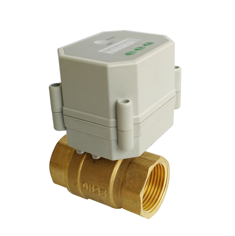 1'' electric timer control valve full port, AC/DC9-24V electric valve for with timer function for Drain water, irrigation water softener automatic control valve electronical timer regeneration rohs ce