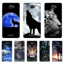 for BQ Aquaris U Lite Case,Silicon Wolf beast Painting Soft TPU Back Cover Protect Phone cases