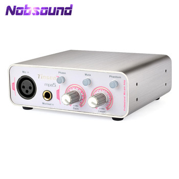 Nobsound Hi-end Professional Microphone Preamplifier Music Mic-pre Amp Balance Recording Preamp