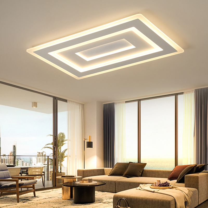 Ultra-thin Surface Mounted Modern Led Ceiling Lights lamparas de techo Rectangle acrylic Square Ceiling lamp fixtures dhl ship 18w surface mounted led downlight round panel light smd ultra thin circle ceiling down lamp kitchen bathroom lamp