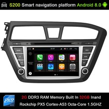 Android 8.0 system PX5 Octa 8-Core CPU 2G Ram 32GB Rom Car DVD Radio GPS Navigation for HYUNDAI I20 2015