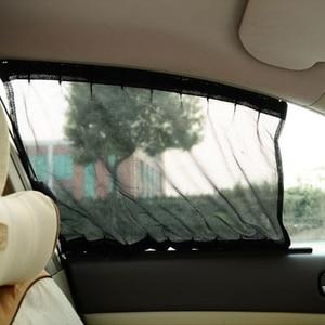 Image 5 - 1 conjunto universal preto malha bloqueio vip janela do carro cortina pára sol viseira uv bloco