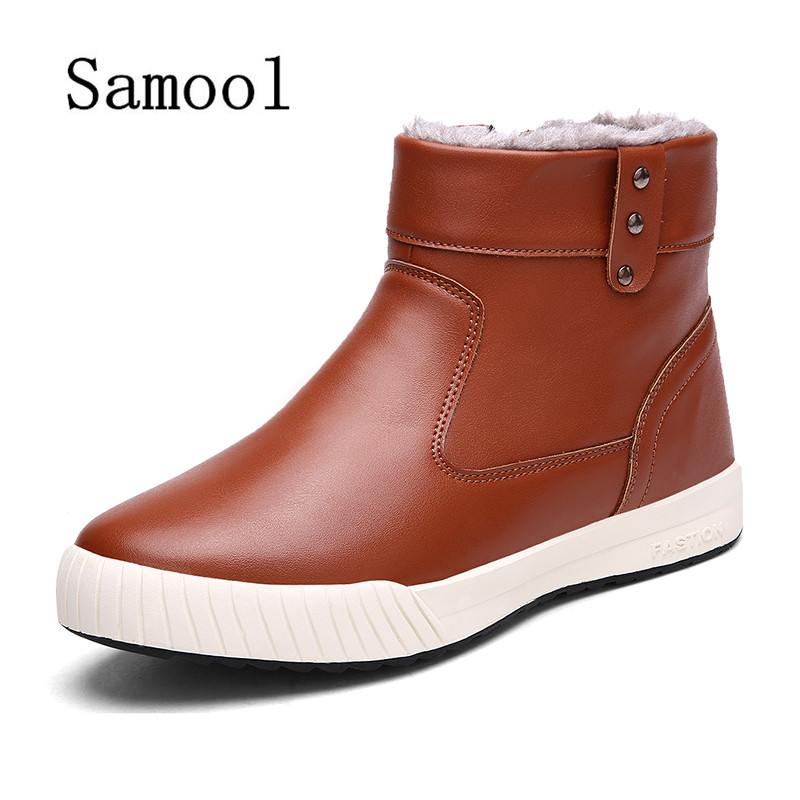 SAMOOL Winter New Male Casual font b Shoes b font Men s Fashion High Top Snow