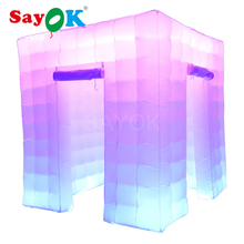 Customized wedding party led photo booth enclosure inflatable photo booth frame backdrop for sale