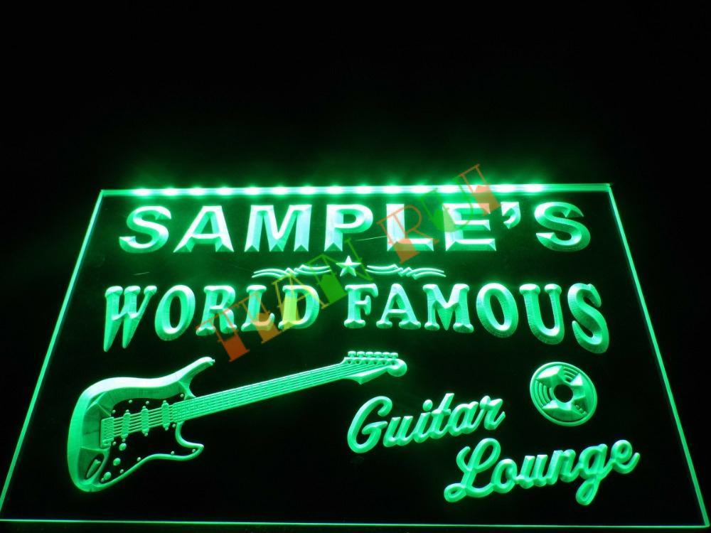 DZ007 Guitar Lounge Beer Bar Pub Room LED Neon Light Sign