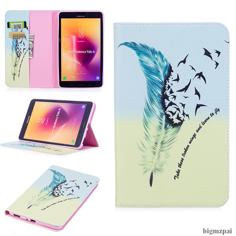 New 3D Printer PU Leather Tablet Cover Stand Tablets Case For Samsung Galaxy Tab A 8.0 T380 T385 SM-T385 2017 With Card Slot