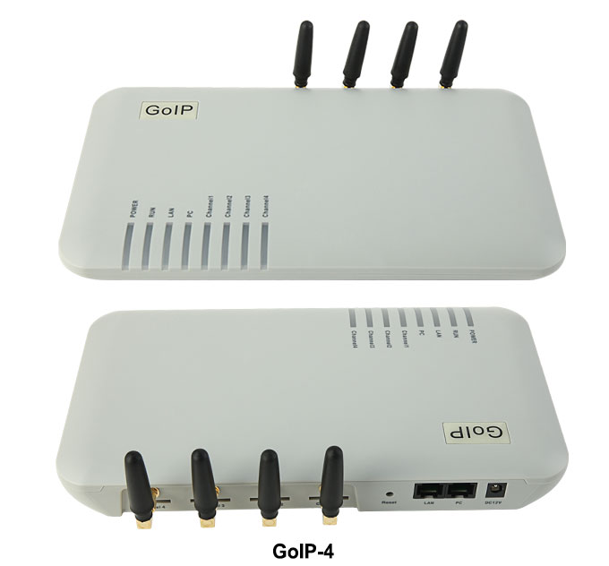GoIP 4 ports gsm voip gateway/Voip sip gateway / GoIP4 ip gsm gateway support SIP/H.323/IMEI changeable practical voip security