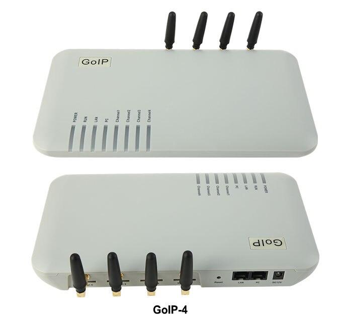 Ehrlichkeit Goip 4 Ports Gsm Voip-gateway/voip Sip-gateway/goip4 Ip Gsm Gateway-unterstützung Sip/h.323/imei Veränderbar Zahlreich In Vielfalt