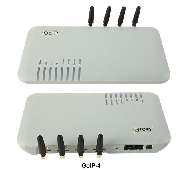 GoIP 4 porty bramka gsm voip/bramka Voip sip/bramka gsm GoIP4 obsługa SIP/H.323/IMEI zmienna