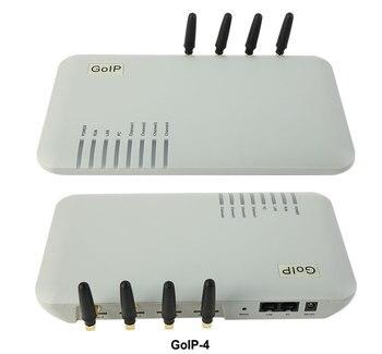 Passerelle voip gsm 4 ports GoIP/passerelle sip Voip/passerelle ip gsm GoIP4 compatible SIP/H.323/IMEI modifiable