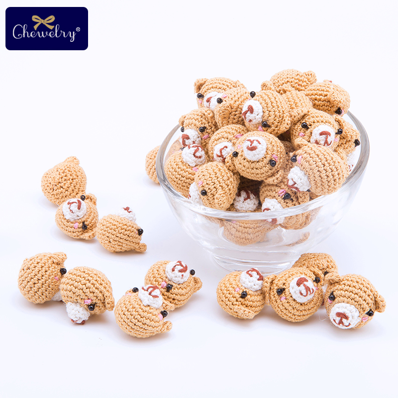 Baby Toys Handmade Crocheted Bear Knitting DIY Craft Cute Newborn Baby Girls Boys Knit Crochet Bear For Pendant Accessories