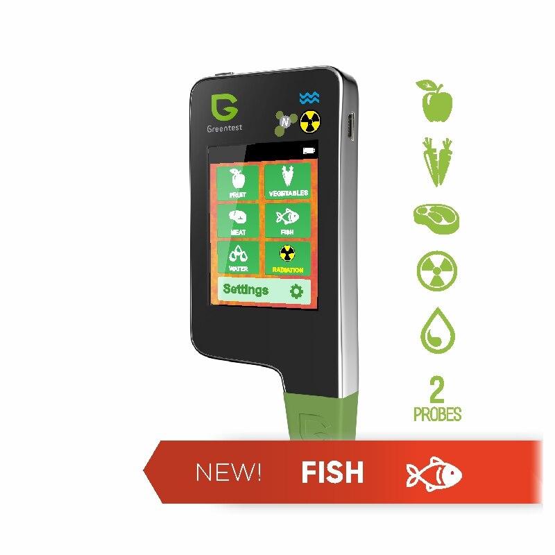 Greentest ECO-5F 3 em 1 digital analisador medidor de concentração testador nitrato de alimentos frutas/carne/peixe dureza da água radiações medidor