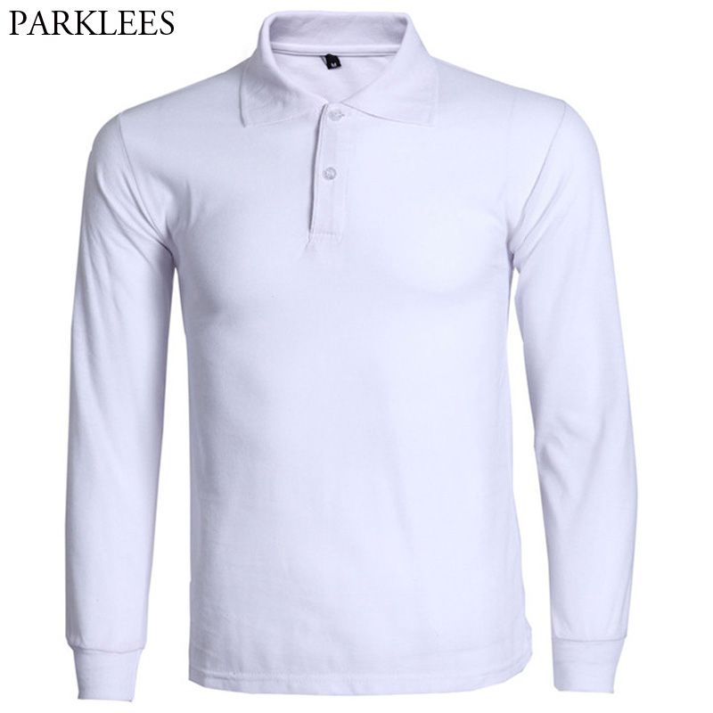 Fashion Polo Shirt Men Camisa Polo Masculina 2017 Brand New Mens Slim Fit Long Sleeve Polo Shirts Casual Cotton Polos Hombre 3XL